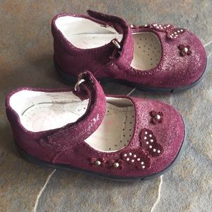Primigi Mary Jane Baby Shoes Burgundy Size 18M